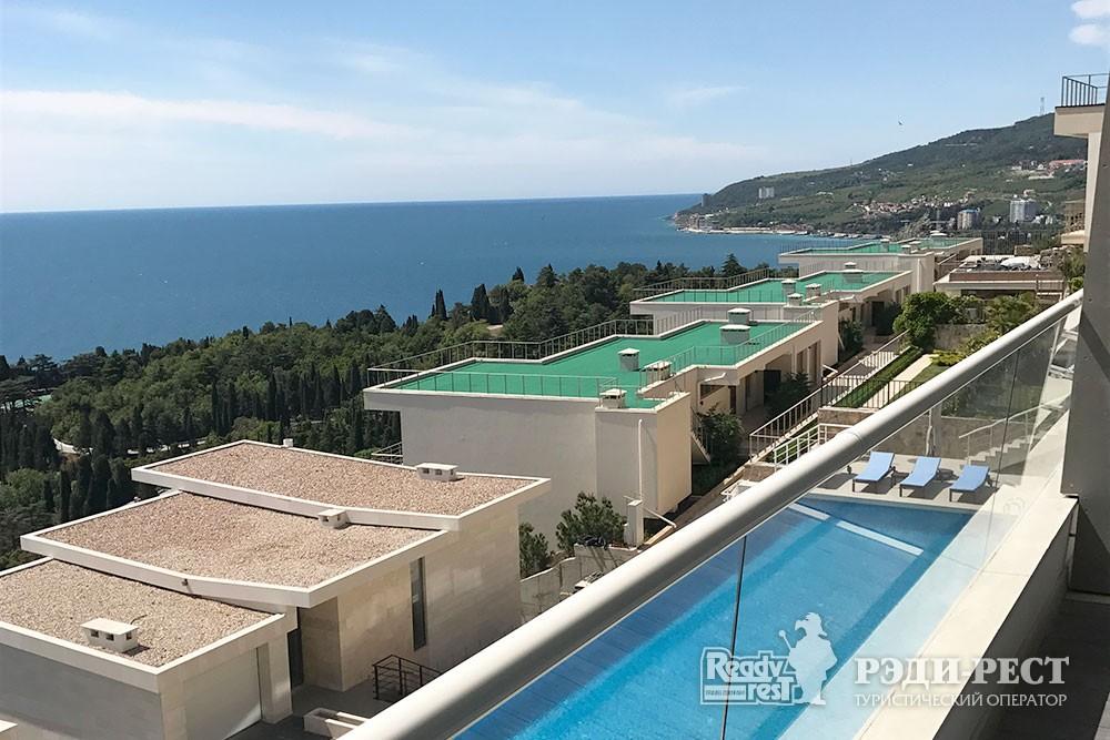 Апарт-отель Резиденции Алтея Апартамент с видом на море