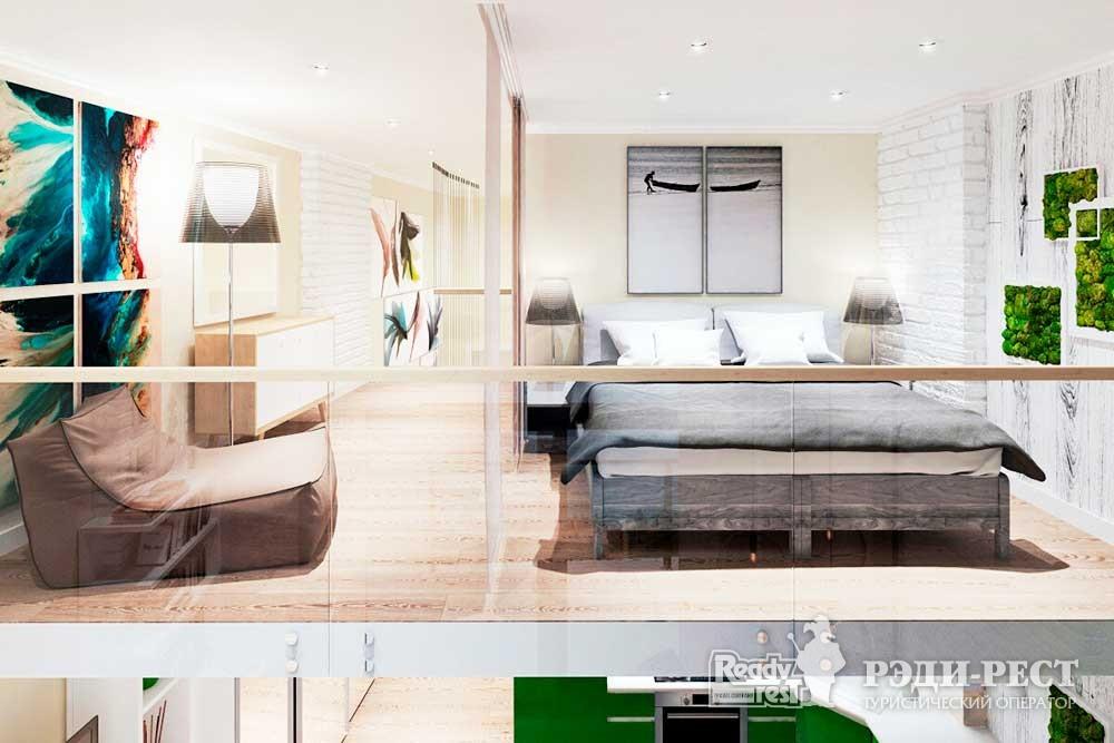 Апарт-отель Гурзуф Ривьера. Апартамент двухуровневый (108)