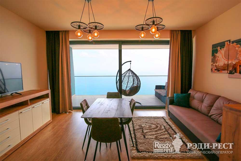 Апарт-отель Гурзуф Ривьера Апартамент с одной спальней<br><br> (601,606,504,508,910)