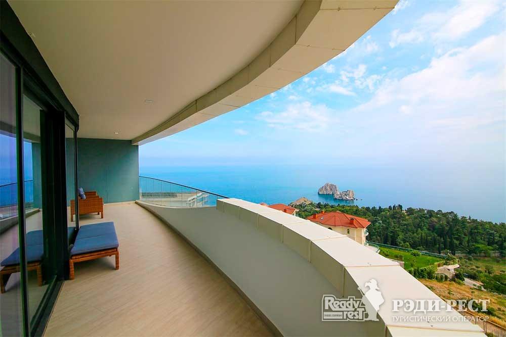 Апарт-отель Гурзуф Ривьера Апартамент 2-комнатный, вид на море<br><br> (219,402)