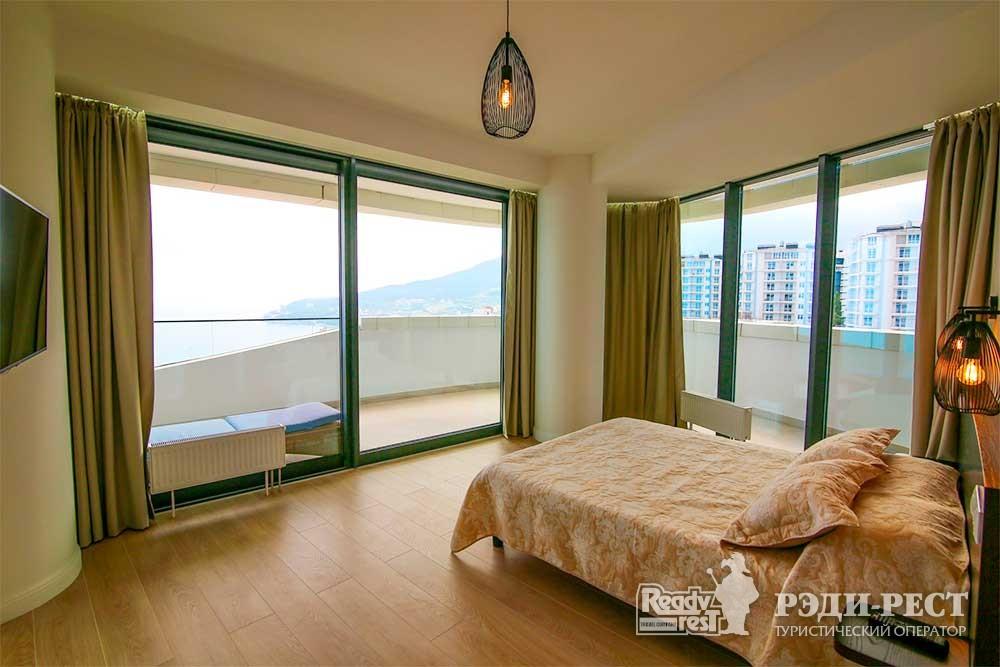 Апарт-отель Гурзуф Ривьера. Апартамент 2-комнатный, вид на море (219,402)