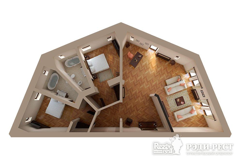 Апарт-отель Крымский Бриз 5* Апартамент Парковый