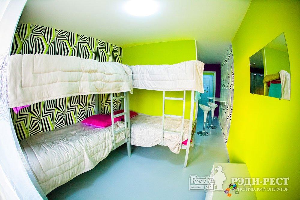 Международный Молодежный Центр Ай-Кэмп. 4-местный номер с удобствами