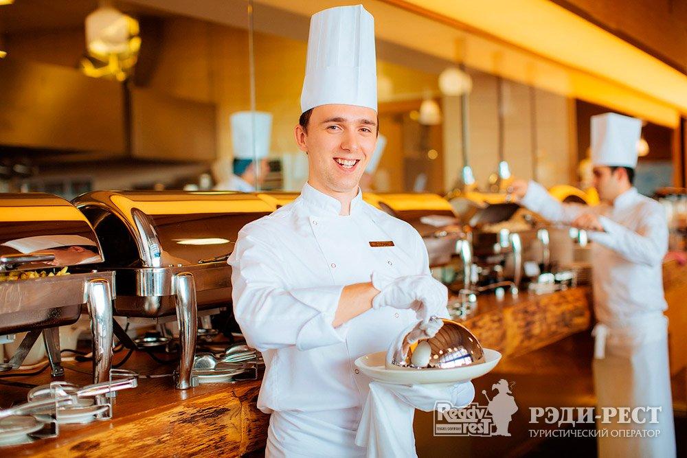 Cанаторно-курортный комплекс Мрия Резорт & СПА 5*. Большая Ялта Ресторан Азур. Шведская линия